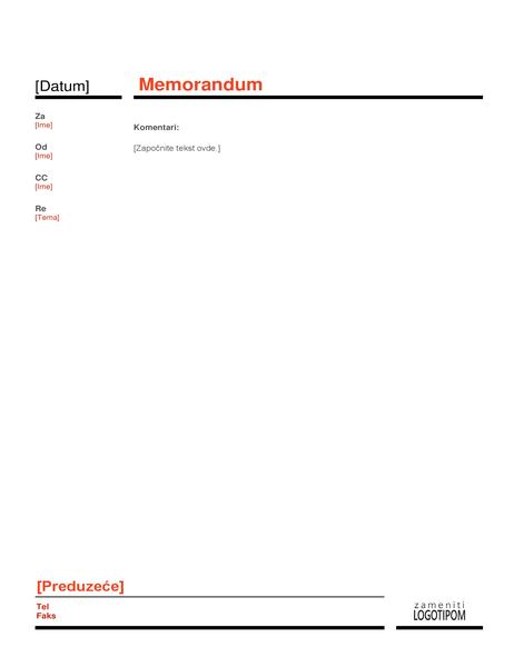 Memorandum preduzeća (crveno)