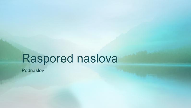 Prezentacija smirenosti prirode (široki ekran)