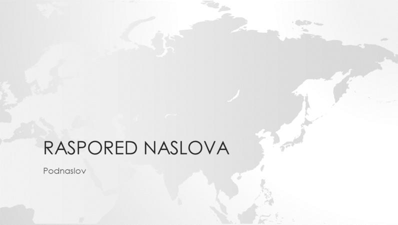"""Grupa """"Mape sveta"""", prezentacija azijskog kontinenta (široki ekran)"""