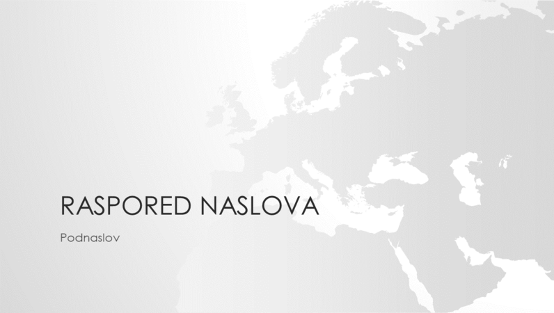 "Grupa ""Mape sveta"", prezentacija evropskog kontinenta (široki ekran)"