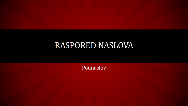 Prezentacija sa crvenim radijalnim linijama (široki ekran)