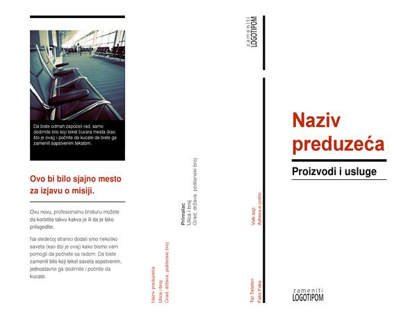Trostruka brošura (crvena i crna)