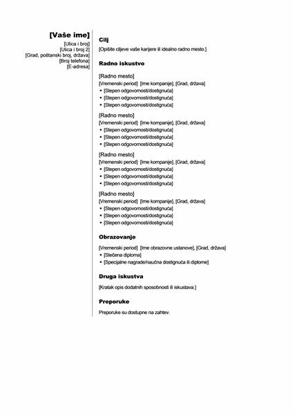 Hronološka biografija (vertikalno)