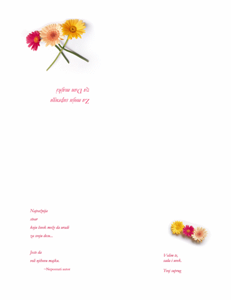 Razglednica za Dan majki (za suprugu)
