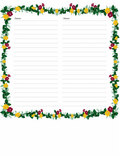 Stranice dnevnika (sa cvetnim motivima)