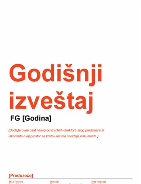 Godišnji izveštaj (crveni i crni dizajn)