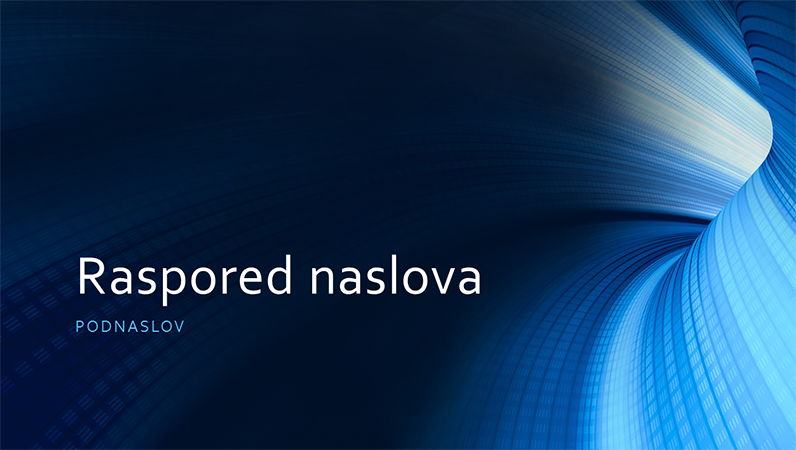 Poslovna prezentacija sa digitalnim plavim tunelom (široki ekran)