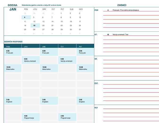 Učenički kalendar (pon.)