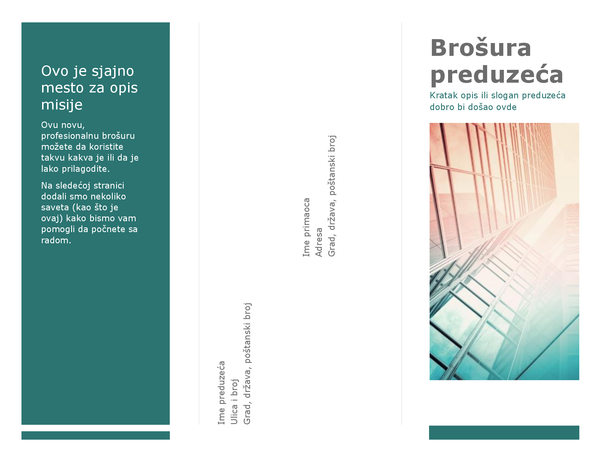 Trodelna brošura (plava)