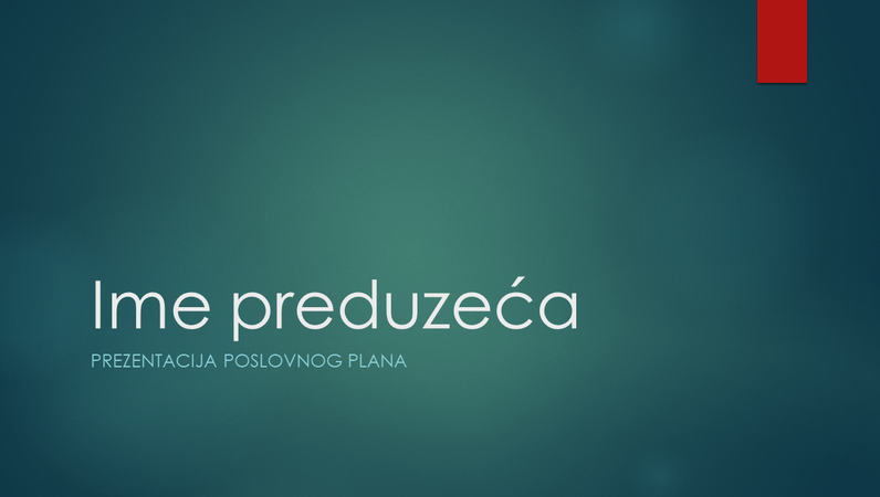 Prezentacija poslovnog plana (jonski zeleni dizajn, široki ekran)