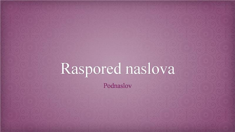 Prezentacija u dizajnu ružičastog cvetnog brokata (široki ekran)