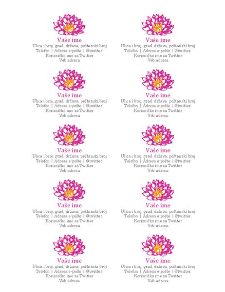 Lične vizitkarte sa slikom cveća