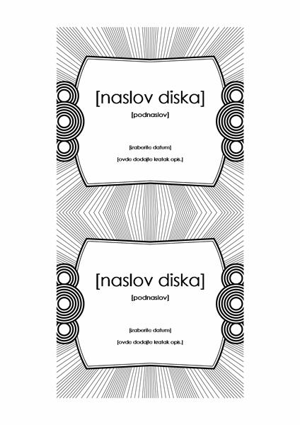 Umetak za CD (kompatibilan je sa papirom Avery 5693)