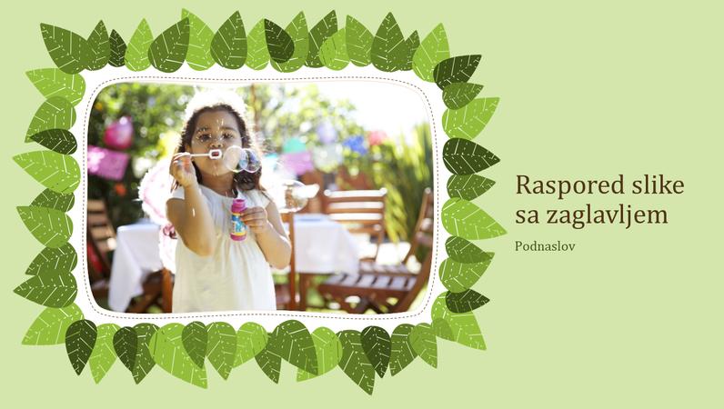 Porodični fotoalbum (dizajn sa zelenim lišćem)
