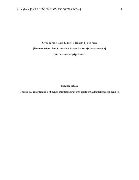 Izveštaj o APA stilu (6. izdanje)