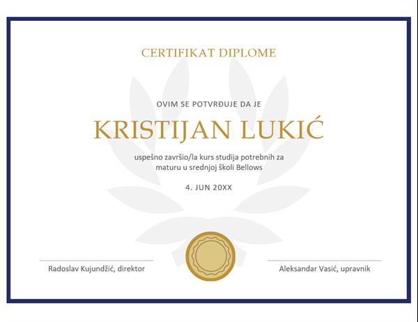Certifikat diplome