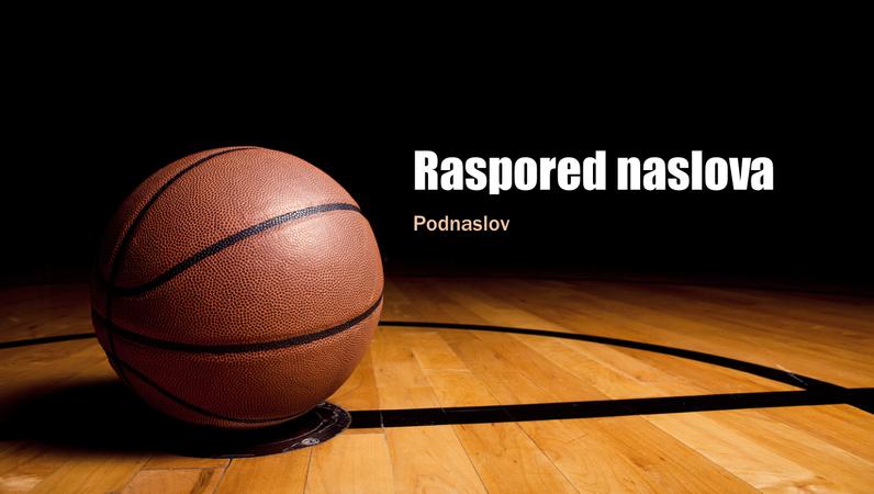 Prezentacija sa košarkaškom loptom (široki ekran)
