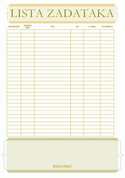 Lista zadataka