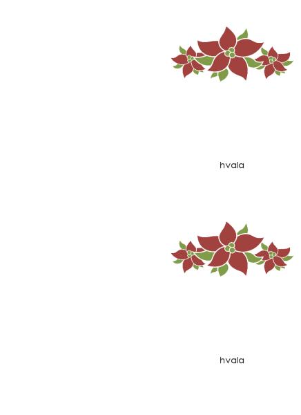 Zahvalnica (dizajn sa poinsetijama)