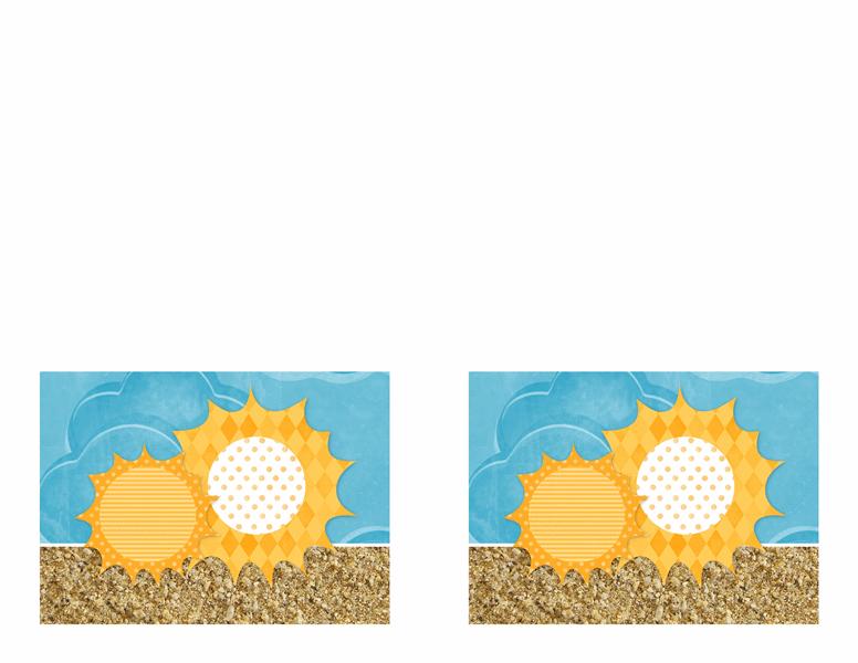 Poziv (dizajn sunca i peska)