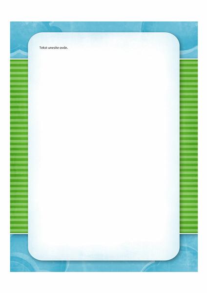 Podloga za pisanje (dizajn sa oblacima)