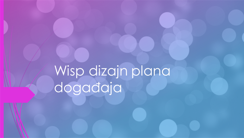 Wisp dizajn plana događaja