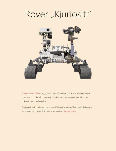 3D Word naučni izveštaj (Mars Rover model)