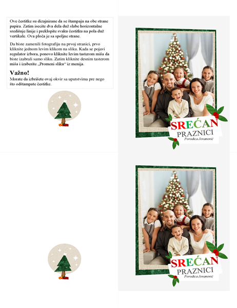 Photo collage holiday card