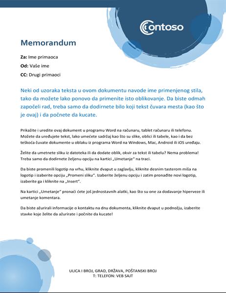"""Memorandum sa dizajnom """"plave sfere"""""""