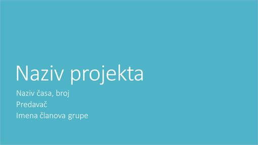 Prezentacija grupnog projekta (velegradske teme, široki ekran)