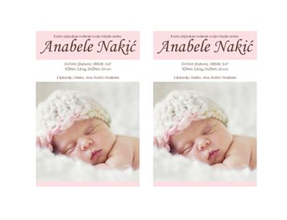 Objava rođenja bebe – za devojčice