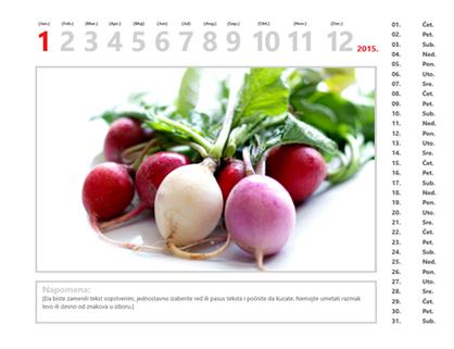 Kalendar sa fotografijama za 2015.