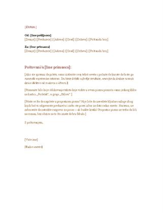 Formalno poslovno pismo