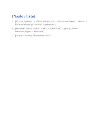 Osnovna lista