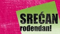 Rođendanska kartica, ogrebana pozadina (ružičasta, zelena, na preklop)