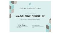 Certifikat o završetku (plavi)