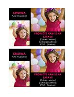 Dopisnica pozivnice za rođendansku žurku