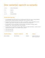 Beleške sa sastanka (narandžasti dizajn)