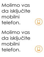 Podsetnik za isključivanje mobilnog telefona