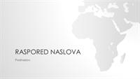 """Grupa """"Mape sveta"""", prezentacija afričkog kontinenta (široki ekran)"""