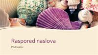 Prezentacija sa morskim školjkama (široki ekran)