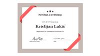 Školski certifikat (formalna plava ivica)