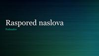 Prezentacija sa zelenim brušenim metalom (široki ekran)