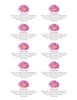 Cvetne lične vizitkarte