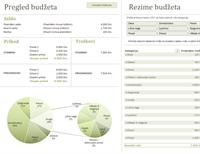 Porodični budžet sa grafikonima