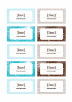 Kartice za raspored sedenja na novogodišnjoj žurci (za papir Avery 5371)