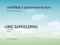 Certifikat o završenom kursu