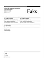 Naslovna strana za faks (Urbani dizajn)