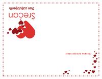 Čestitka za Dan zaljubljenih (prazna unutrašnjost)