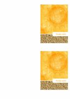 Zahvalnica (dizajn sunca i peska)